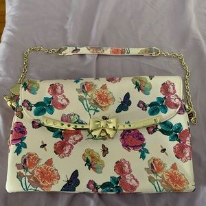 Betsey Johnson Floral Spring Bag Gold Chain Strap
